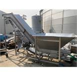 Stainless Steel Incline Flighted Conveyor with Hopper | Rig Fee: $250 See Full Desc