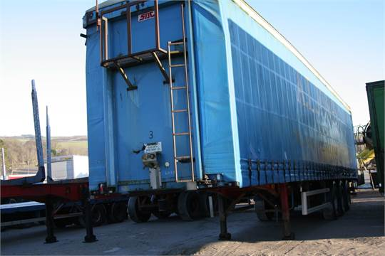 Sale Item SDC CHIPLINER 45 FT CURTAINSIDE TRAILER Vat Status Plus