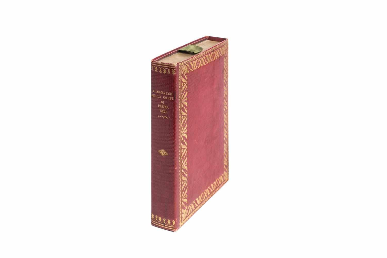ALMANACCOdella Ducal Corte di Parma per l'anno MDCCCXXIX. Parma, dalla Tipografia Ducale (1828).