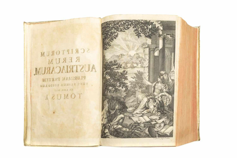 PEZ, Hieronymus (Ed.)Scriptores rerum Austriacarum veteres ac genuini. Bd. 1 (v. 3). Lpz., Gleditsch - Image 5 of 5