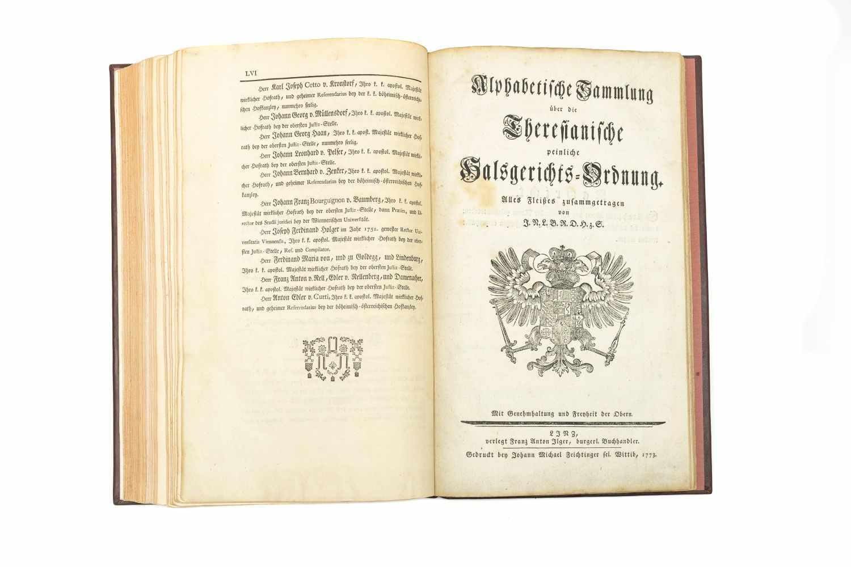 MARIA THERESIA Constitutio Criminalis Theresiana oder der Römisch-Kaiserl. zu Hungarn und Böheim - Image 3 of 4