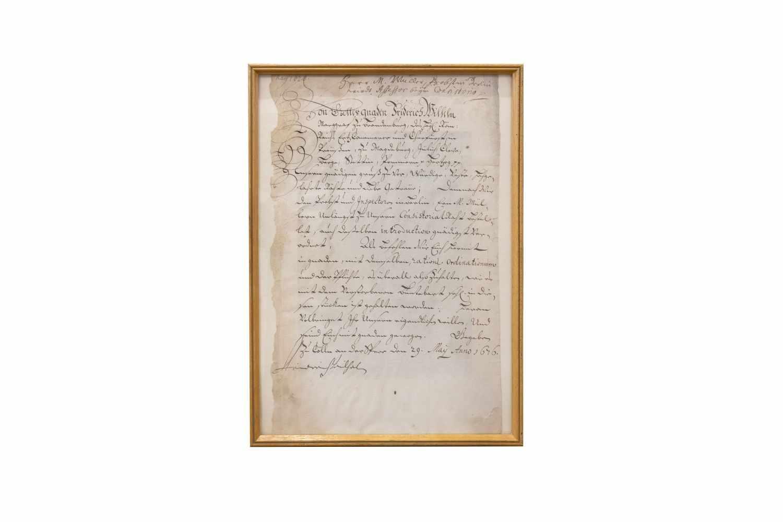 FRIEDRICH WILHELM VON BRANDENBURGHandschriftl. Ermächtigungsschreiben für den Berliner Probst M.
