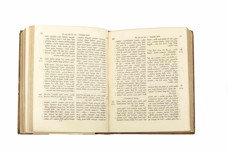 BIBLIA SYRIACAKěṯāḇe qaddīše h̄ kěṯāḇe děḏiyaṯiqi ʻattīqā waḥḏaṯa. 2 Tle. in 1 Bd. London, Samuel - Image 3 of 3