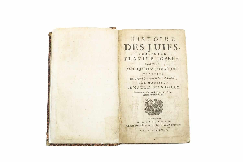 JOSEPHUS FLAVIUSHistoire des juifs, ecrite par Flavius Joseph, Sous le Titre de Antiquitez - Image 3 of 4