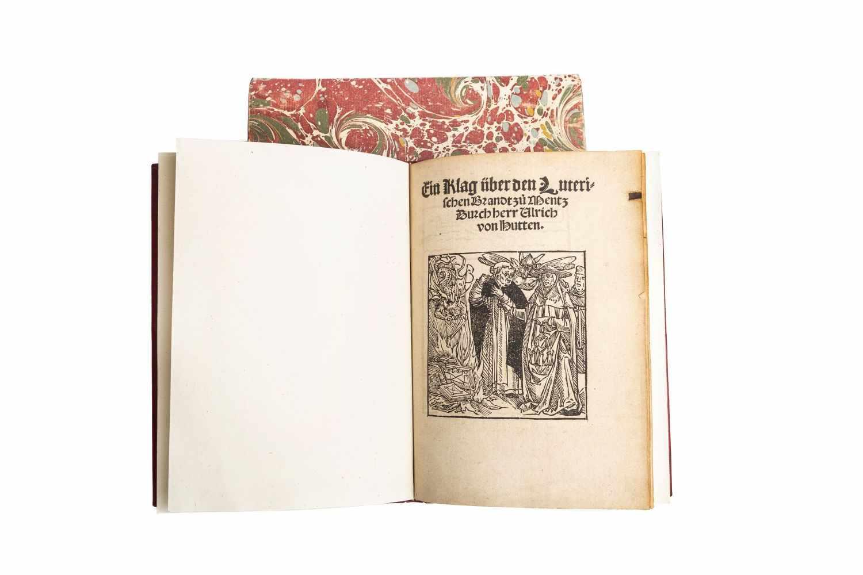HUTTEN, Ulrich vonEin Klag über den Lutherischen Brandt zu Mentz. (Zürich, Christoph Froschauer d.