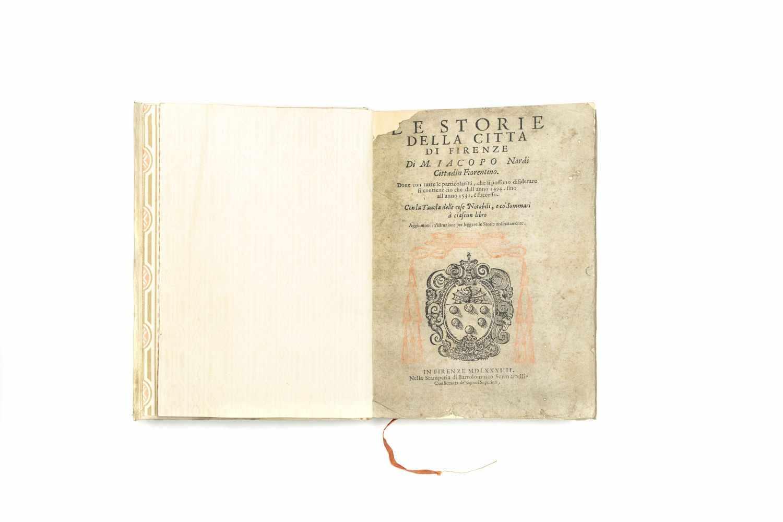 NARDI, M. IacopoLe Storie della citta di Firenze. Doue con tutte le particolarità, che si possono