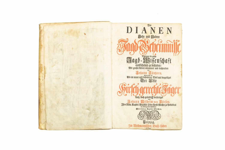 TANTZER, Johann Der Dianen Hohe und Niedere Jagd-Geheimnisse, Darinnen die gantze Jagd- - Image 3 of 5