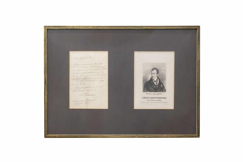METTERNICH, Clemens Wenzel Lothar Fürst von (österreichischer Staatskanzler 1773-1859). 14-