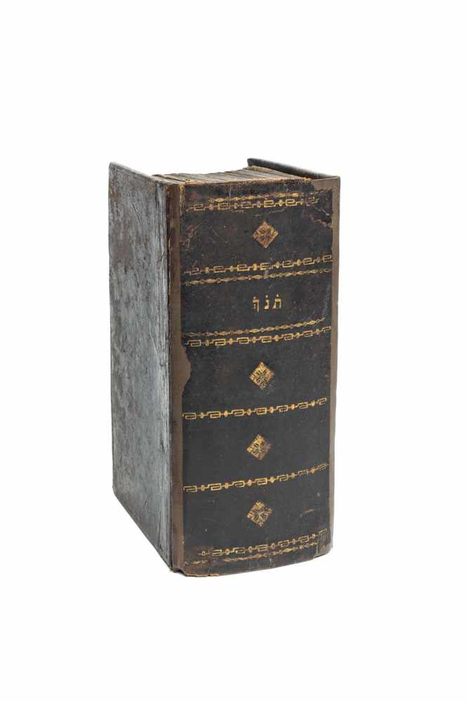 BIBLIA HEBRAICA - וכתובים נביאים תורה [Torah]. Amsterdam, Joseph Athias 1661. 8°. 1636 S. Mit ill.