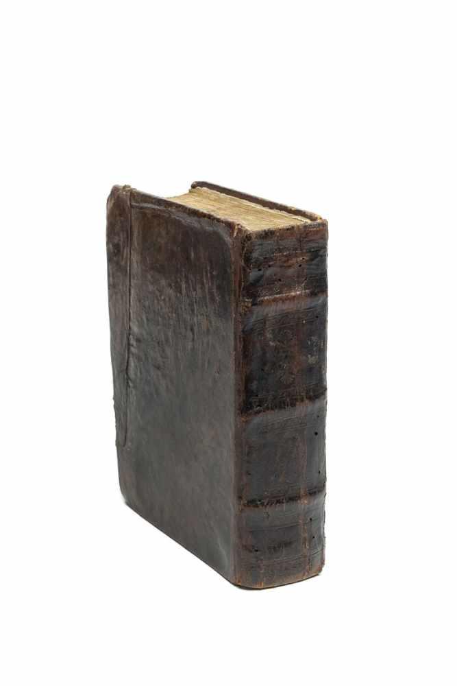 EUCHOLOGIONCurie de Nectari... Bucuresij, sfeta Mitropolitej 1817. gr.-8°. (19,5 x 14 cm.). 374 Bll. - Image 2 of 2