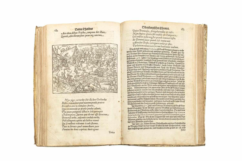 OLDENBURG - HAMELMANN, HermannOldenburgisch Chronicon. Das ist Beschreibung der Grafen zu - Image 3 of 3