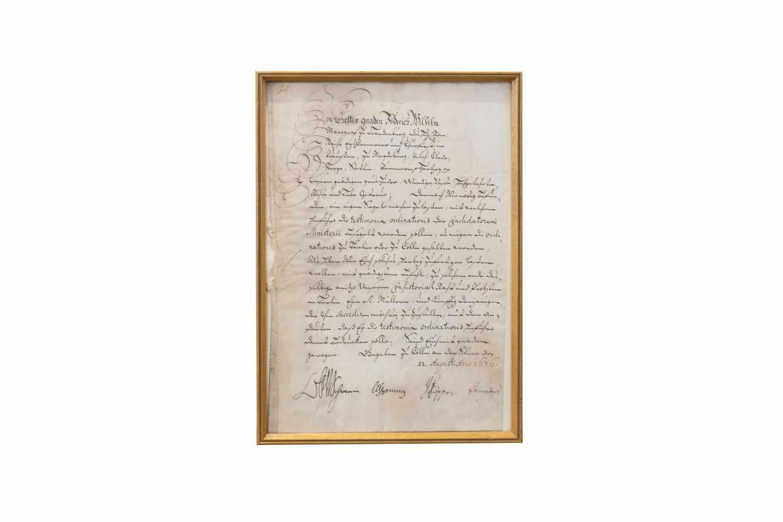FRIEDRICH WILHELM VON BRANDENBURGHandschriftl. Schreiben mit eigenhändiger Unterschrift. Cölln an