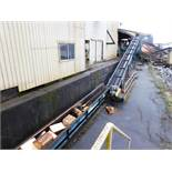 "24"" X 70' TWIN STRAND FLYTED INCLINE CONVEYOR W/ 25HP MOTOR & REDUCER"