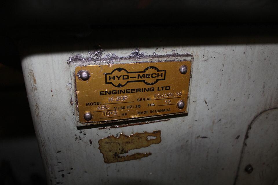 Lot 53 - HYD MECH M20P HORIZONTAL BAND SAW W/ HYD MECH CONTROL,HYDRAULIC CLAMP, CONVEYOR NOT INCLUDED (