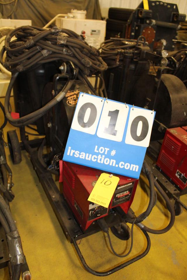 Lot 10 - LINCOLN LN8 WIRE FEEDER W/ POT, HANDHELD SUB ARCS (LOCATION: 4081 EASTSIDE HWY, STEVENSVILLE, MT,