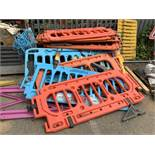 Large Quantity of Traffic Management Road Barriers, Various Interlocking Barrier Systems, Colours,