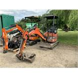 Kubota U17-3 Mini Rubber Tracked Excavator, 2,624 Hours, Serial No.27327, (2016) with 3 Buckets as