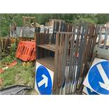 Quantity of Blue Direction Arrow Traffic Management Signs - Single Line High Signs Only,