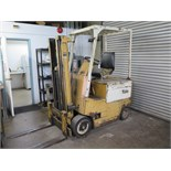 Yale Electric Forklift w/ 3-Stage Short Mast, Solid Tires, Charger (NEEDS BATTERY)