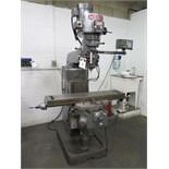 Webb Vertical Mill w/ Sony Millman DRO, 3Hp Motor, 60-4200 Dial Change RPM, Chrome Ways, Power Feed,