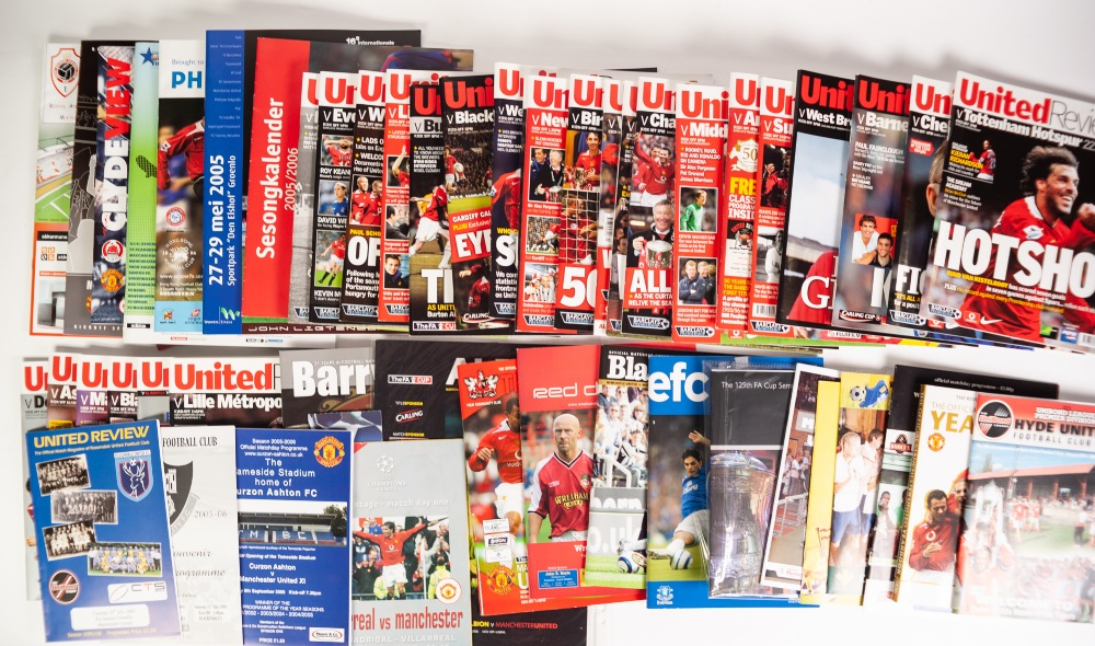 Lot 509 - MANCHESTER UNITED SEASON 2005-06 HOME PROGRAMMES, to include; various friendly's, Lancaster,