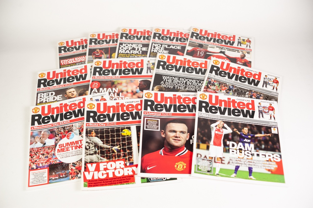 Lot 510 - 25 HOME PROGRAMMES FROM SEASON 2011-12, MANCHESTER CITY v MANCHESTER UNITED COMMUNITY SHIELD 2011,