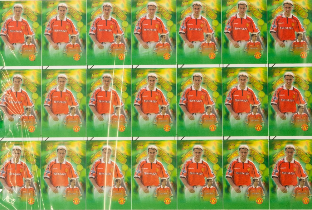 Lot 514 - FUTERA NET NET PHONE CARD, 14 FRAMED AND GLAZED SETS OF MANCHESTER UNITED PLAYERS, all 1/100 with