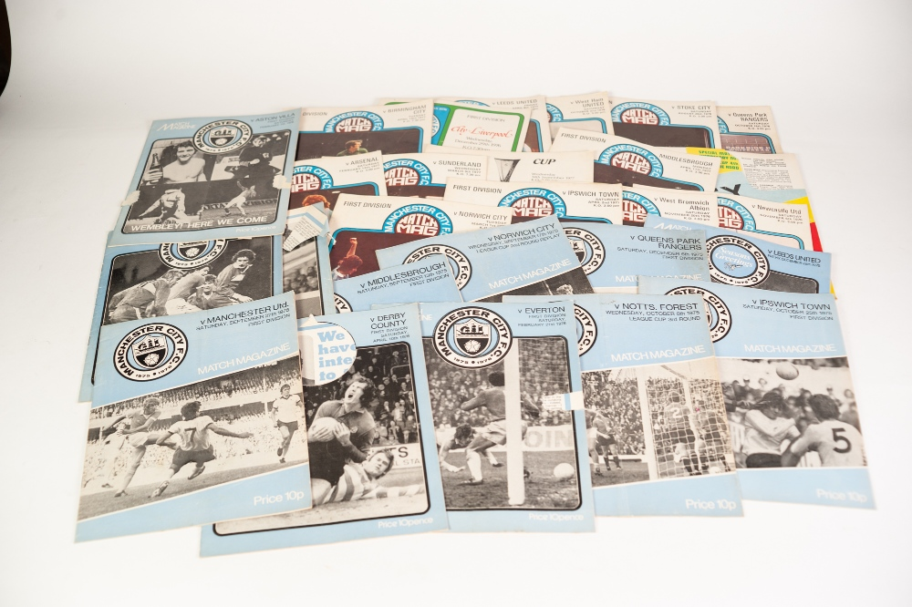Lot 560 - QUANTITY OF FOOTBALL PROGRAMMES mainly Manchester City, 58 Away programmes and 141 Home programmes