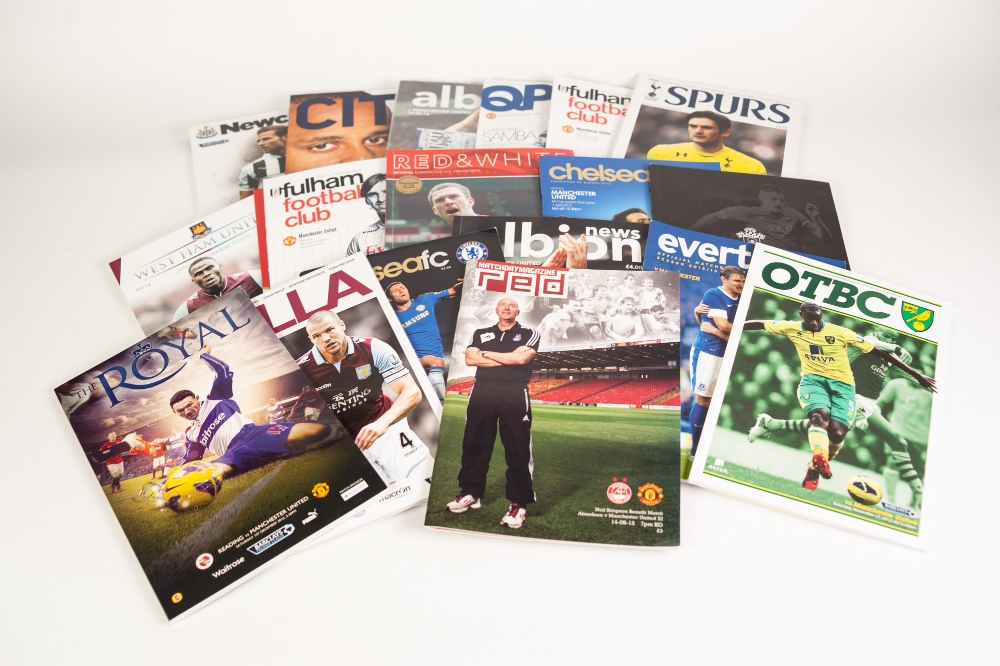Lot 511 - MANCHESTER UNTIED 29 HOME PROGRAMMES 2012-13, 28 AWAY PROGRAMMES Barcelona v Manchester United