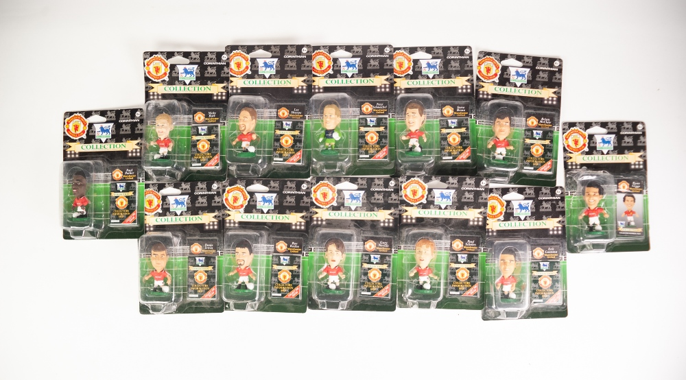 Lot 507 - 'CORINTHIAN' - COLLECTION OF 24 FIGURES OF MANCHESTER UNITED PLAYERS FROM THE 1990's/ 2000'S and
