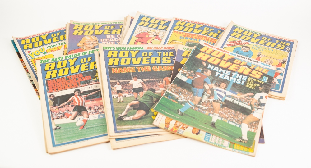 Lot 555 - 88 'ROY OF THE ROVERS' COMICS from 1977 to 1984 AND 2 'ROY OF THE ROVERS' ANNUALS 1974 AND 1979