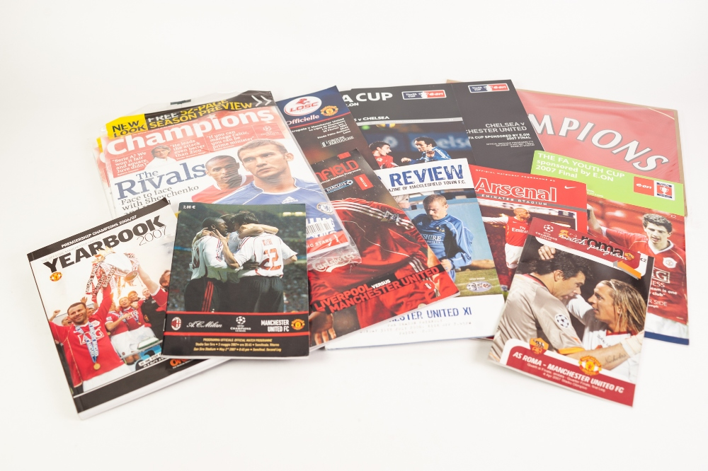 Lot 544 - MANCHESTER UNITED FOOTBALL PROGRAMMES, 2006-07, ALL THIRTY HOMES, PLUS AWAYS FOR CHAMPIONS LEAGUE,