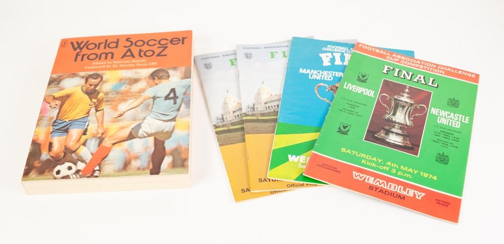 Lot 502 - FOUR FA. CUP FINAL FOOTBALL PROGRAMMES; Leeds v Sunderland 1973 (2), Liverpool v Newcastle 1974,