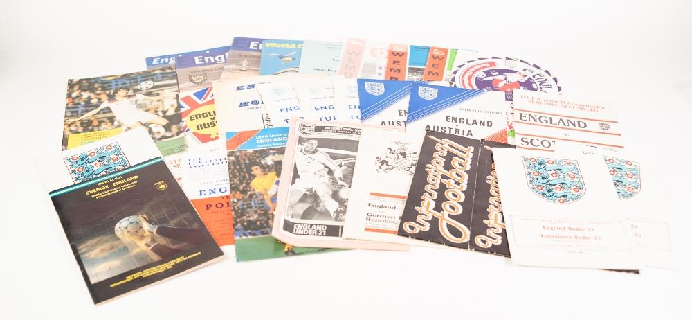 Lot 543 - TWENTY SIX ENGLAND YOUTH TEAM FOOTBALL PROGRAMMES, 1965 AND LATER, including: 'Schools International