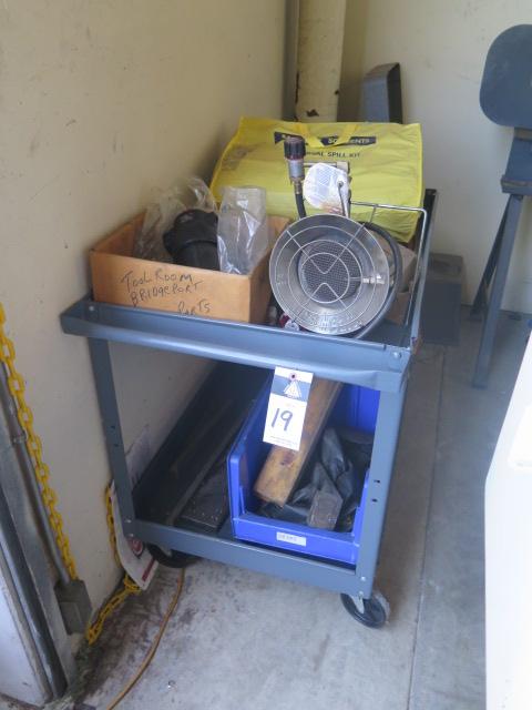 Lot 19 - Cart w/ Misc Shop Supplies