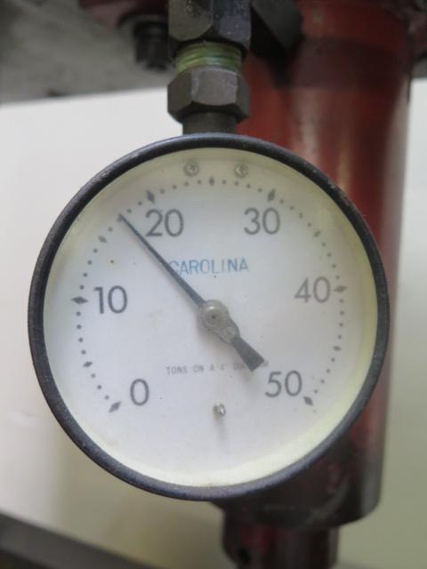 Lot 3 - Carolina mdl. CBP1200 50 Ton Hydraulic H-Frame Press s/n 11600