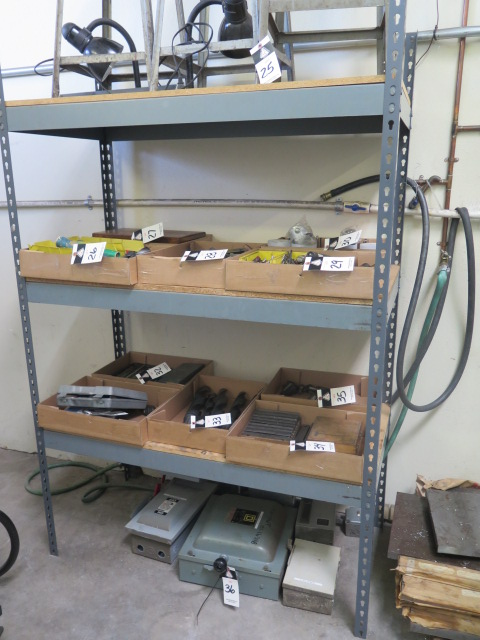 Lot 36 - Electrical Junction Boxes and Shelf