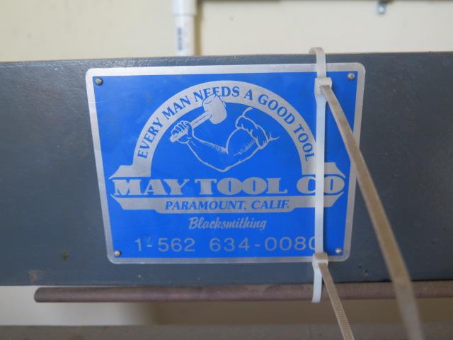 "Lot 20 - 2011 May Tool mdl. MTC-42DV3/4 42"" Power Circle Shear s/n 1878 w/ 0-350 RPM, Stand"