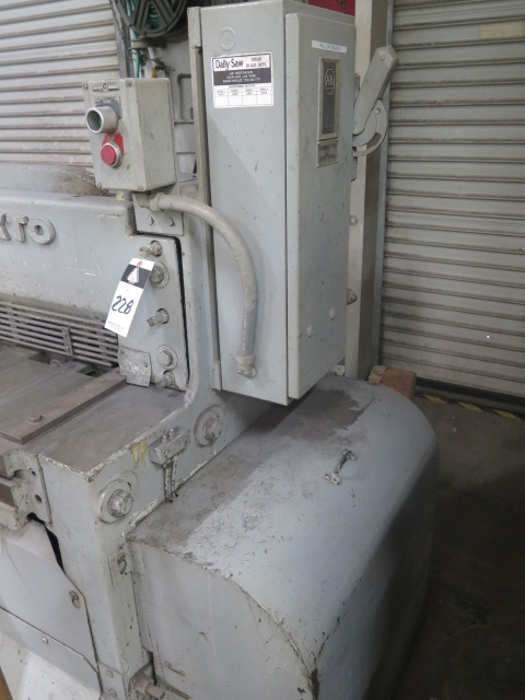 "Lot 228 - Pexto 12U52 12 GA x 52"" Power Shear s/n 840046 w/ Manual Dial Back Gage, Front Supports"