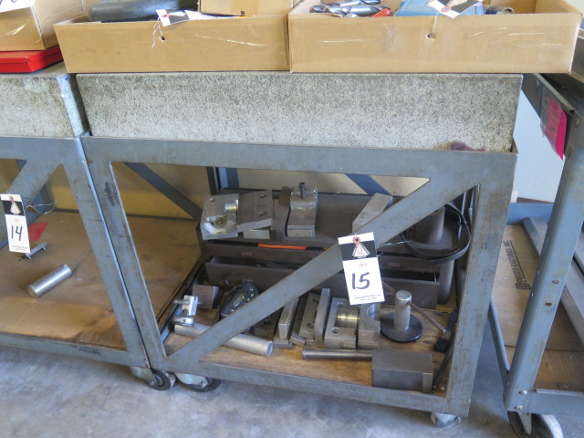 """Lot 15 - 24"""" x 29 ½"""" x 6"""" Granite Surface Plates w/ Roll Stand"""