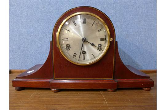 A German Kienzle mahogany mantel clock