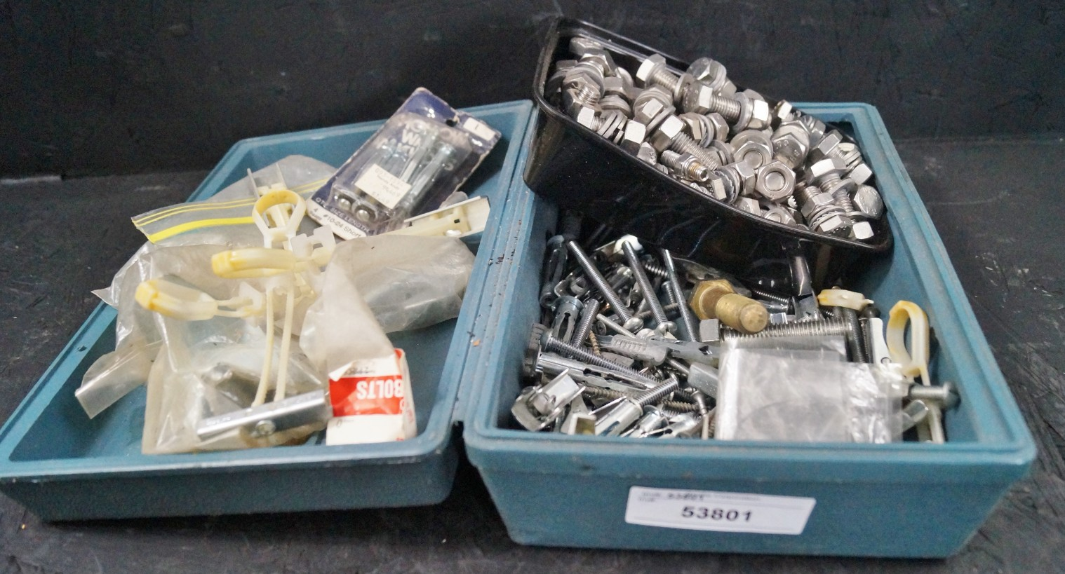 Lot 31 - WALL ANCHORS, STAINLESS STEEL NUTS & BOLTS, BRASS