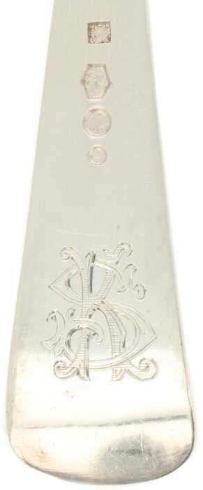 """(12) Delige set diner lepels & vorken 'HAAGS LOFJE' zilver.Model """"HAAGS LOFJE"""" in originele etui. - Bild 5 aus 8"""