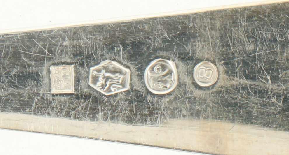 """(12) Delige set Lepels & vorken 'HAAGS LOFJE' zilver.Uitgevoerd in """"Haags Lofje"""". Nederland, - Bild 3 aus 5"""