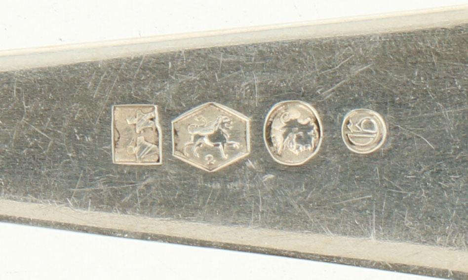 """(12) Delige set Lepels & vorken 'HAAGS LOFJE' zilver.Uitgevoerd in """"Haags Lofje"""". Nederland, - Bild 5 aus 5"""