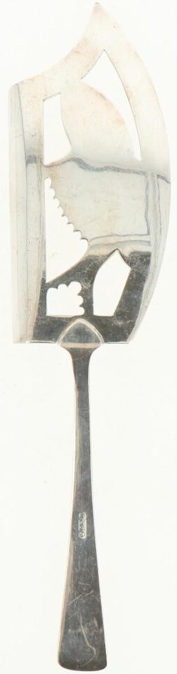 """Visschep verzilverd.Model : """"HAAGS LOFJE"""". Nederland, Zeist, M. Gerritsen. 1912, Keurtekens: - Bild 3 aus 4"""