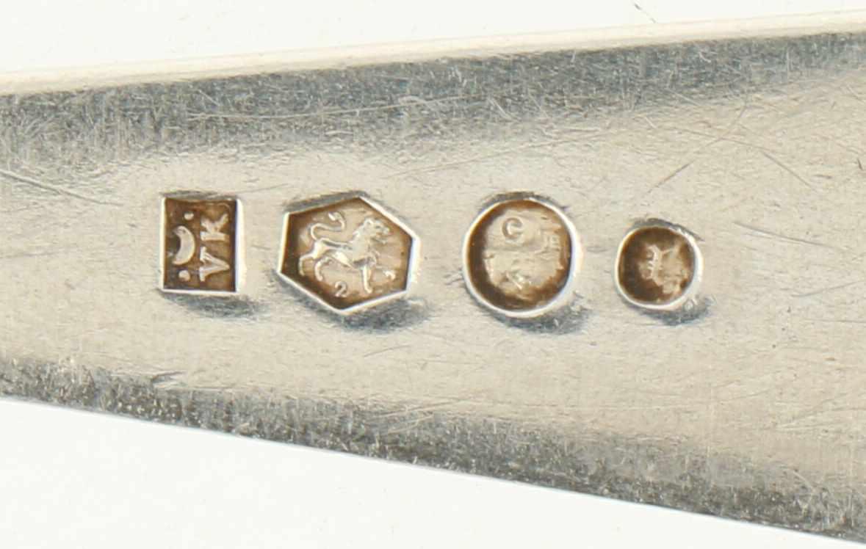 """(6) Delige set lepels zilver.Model : """"HAAGS LOFJE"""". Nederland, Voorschoten, Van Kempen & Zonen. 1907 - Bild 3 aus 3"""