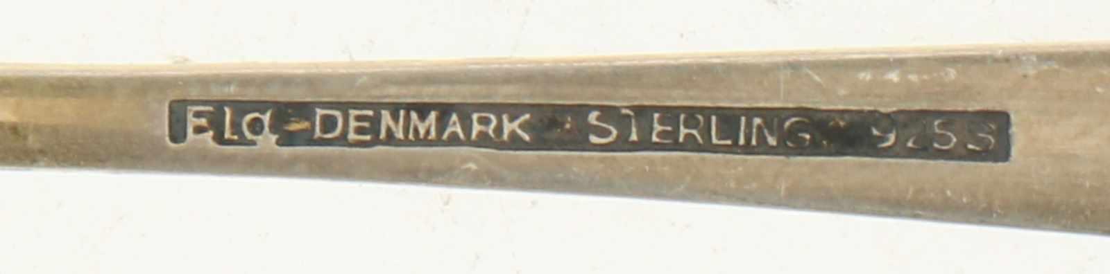 (5) theelepels zilver.Uitgevoerd met emaille versiering afgewerkt met kroon. Denemarken, Kopenhagen, - Bild 3 aus 3