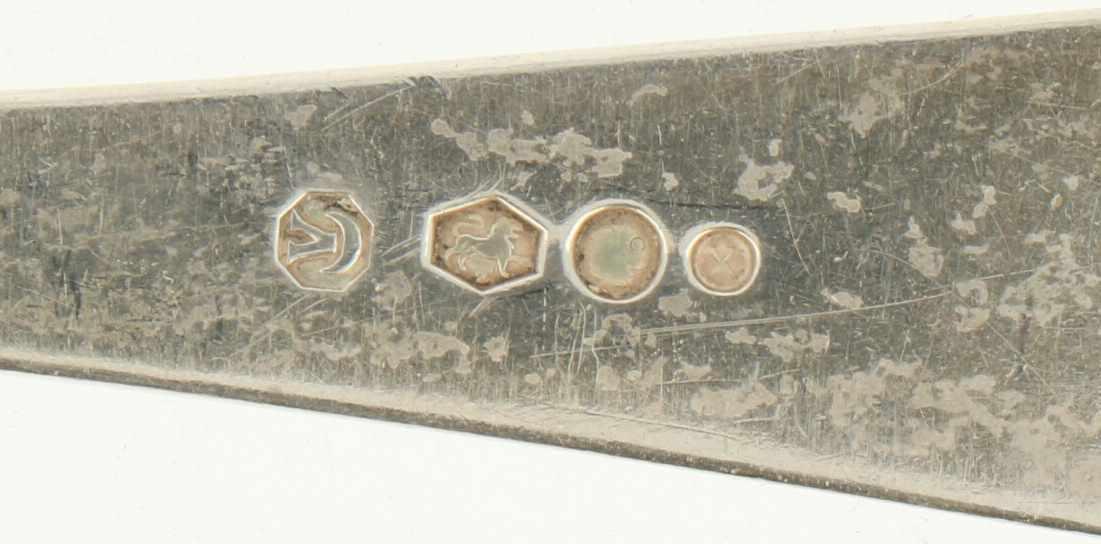 """(2) Delige set opscheplepels zilver.Model : """"HAAGS LOFJE"""". Nederland, Voorschoten, Zilverfabriek - Bild 3 aus 4"""
