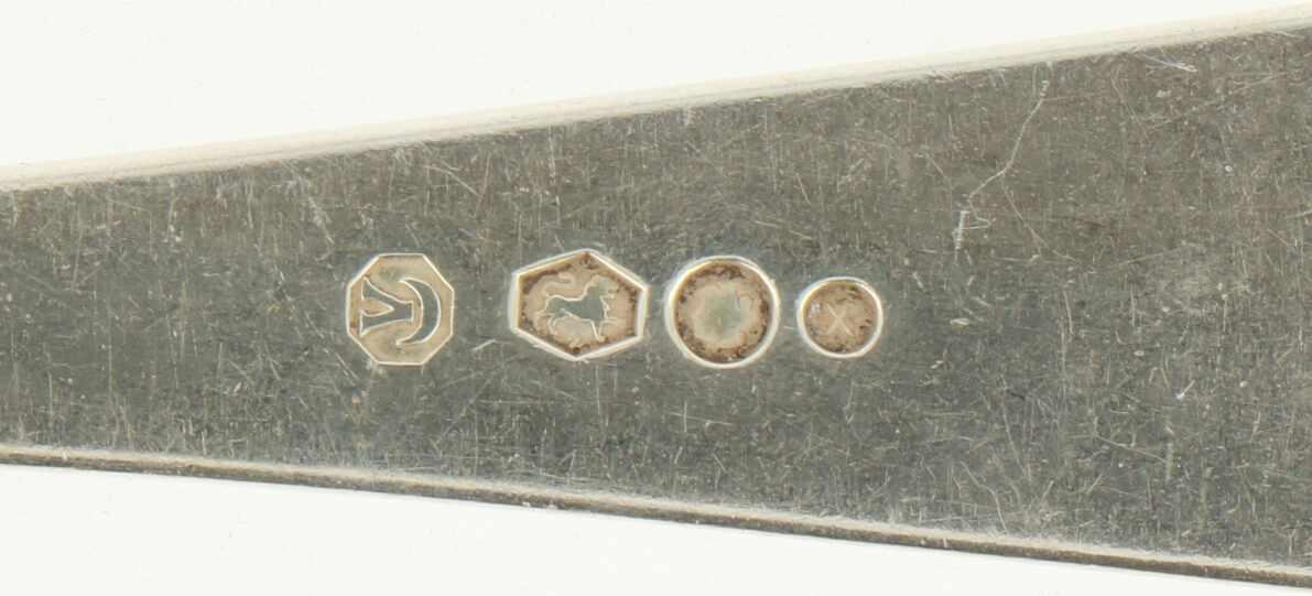 """(2) Delige set opscheplepels zilver.Model : """"HAAGS LOFJE"""". Nederland, Voorschoten, Zilverfabriek - Bild 4 aus 4"""